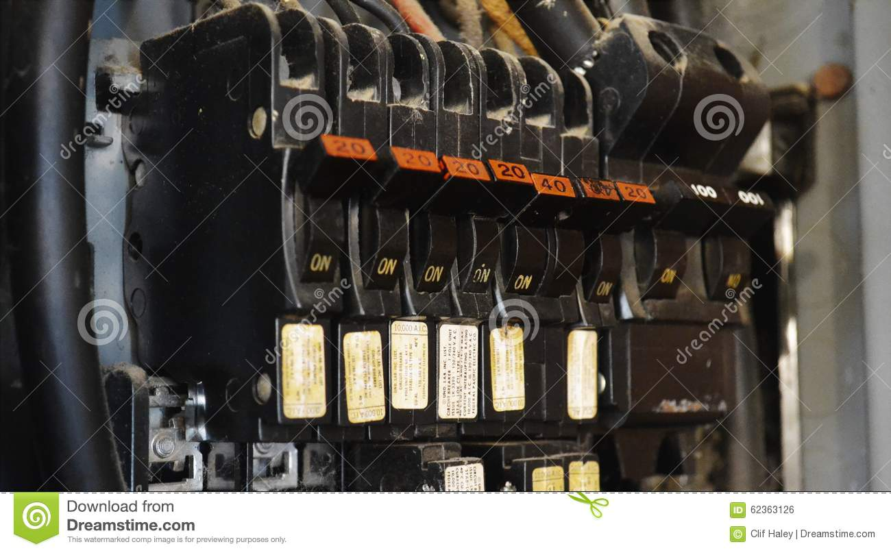 Old Electrical Breakers Stock Photo Image Of Danger
