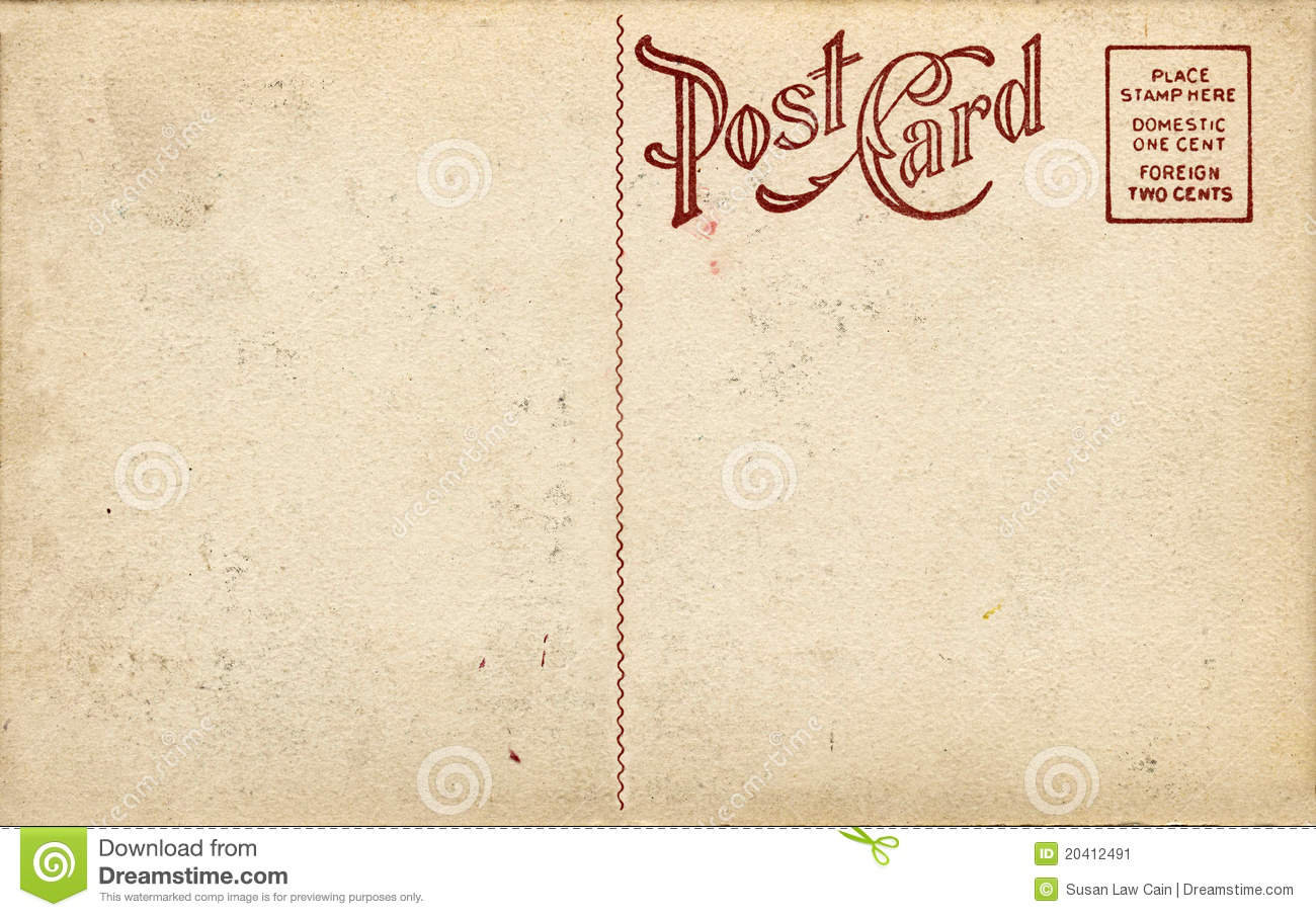Backside Of Postcard Template – Free Postcard Templates Download