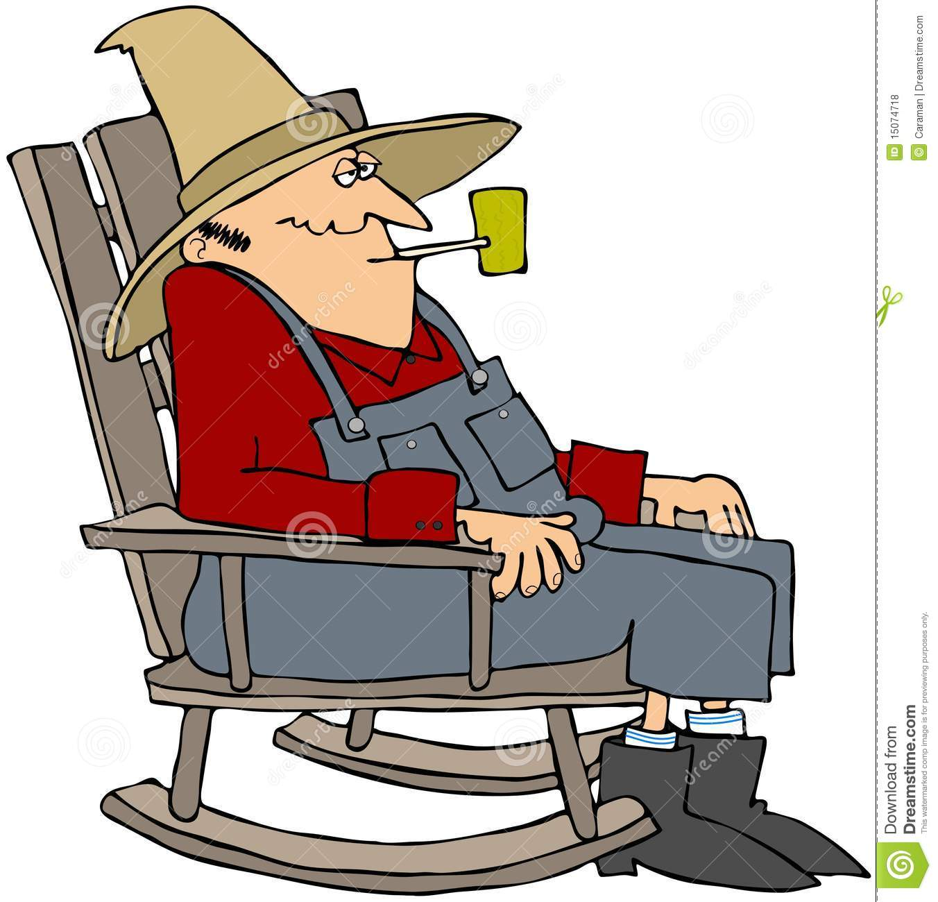 Alter Schaukelstuhl Old Man In A Rocking Chair Royalty Free Stock Photos