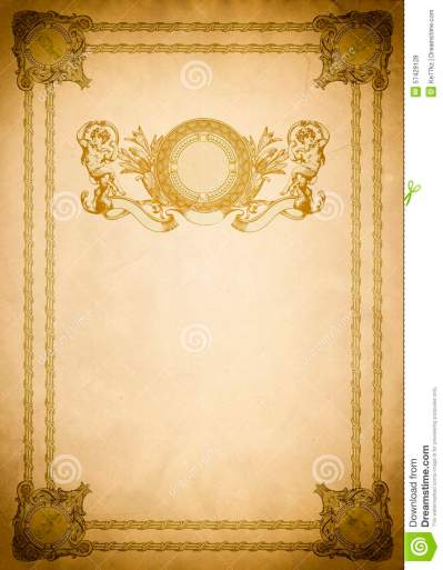 Old Paper Backdrop With Old-fashioned Decorative Border. Stock Photo - Image of copy, grunge ...