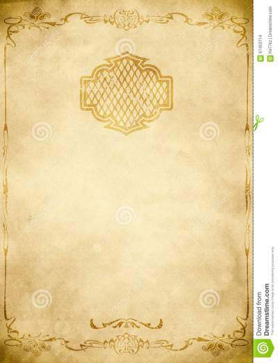 Old Paper Background With Decorative Vintage Border. Stock ...