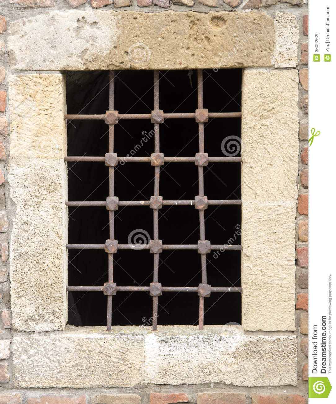 OLD PRISON BARS Royalty Free Stock Images