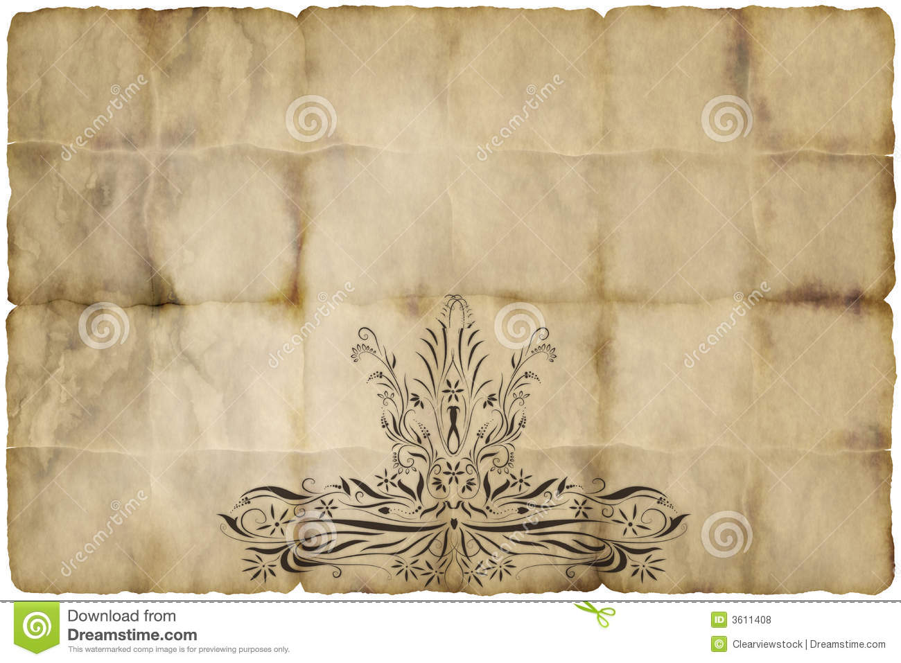 Regal Design Old Regal Paper Parchment Stock Vector. Illustration Of Canvas - 3611408