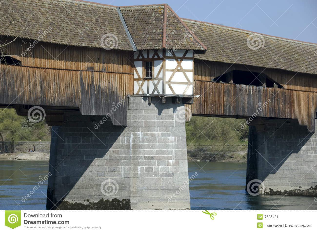 Bad Stein Old Rhine Bridge Bad Sackingen Stein Ag Stock Image Image Of