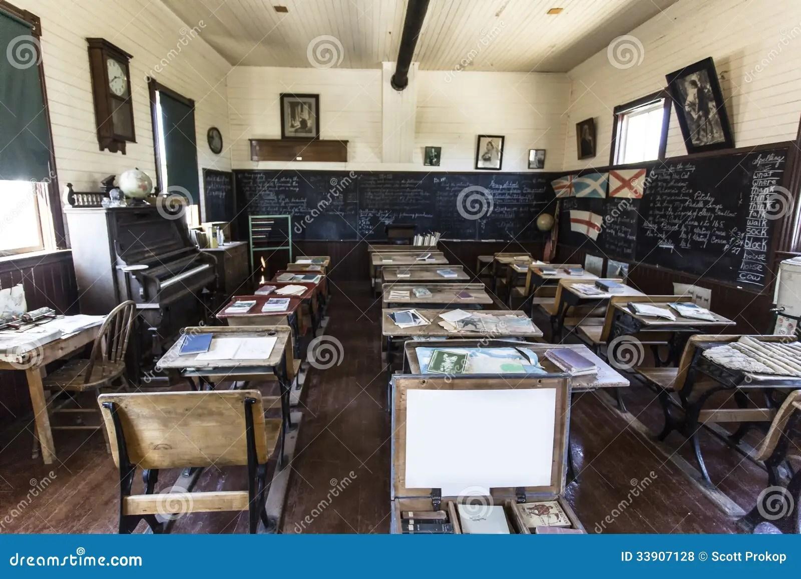Old School Classroom Royalty Free Stock Photos