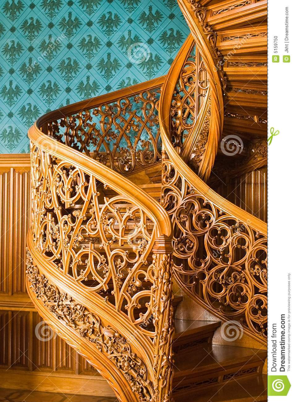Royal Palace Old Spiral Stairs Stock Photo. Image Of Made, Masterpieces
