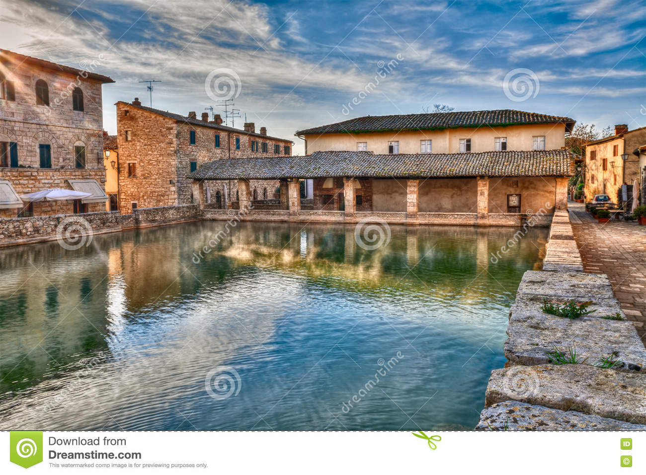 Bagno Vignoni Free Thermal Baths Old Thermal Baths In Bagno Vignoni Tuscany Italy Stock Photo