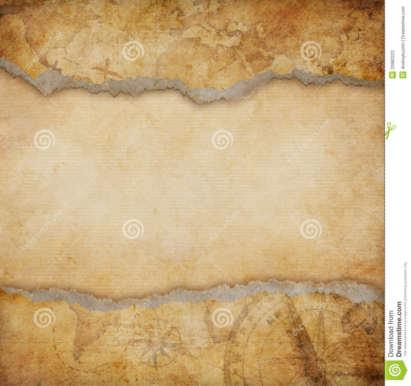 3d Animation Wallpaper Download Old Torn Map Background Stock Photos Image 33982223