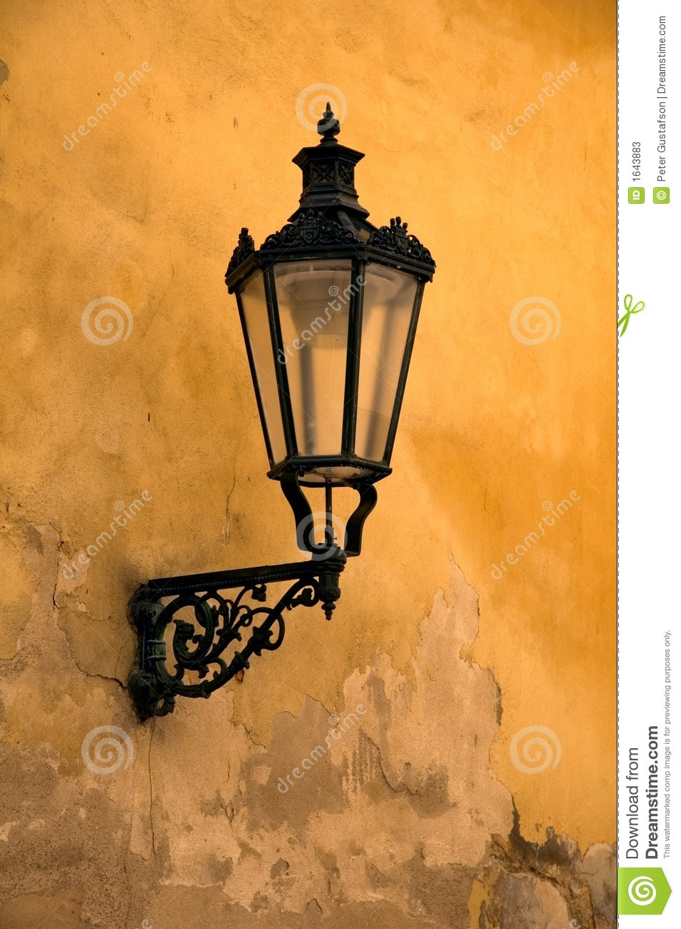 Lamp Light Old Wall Lamp Stock Image. Image Of Glass, Square, Eastern