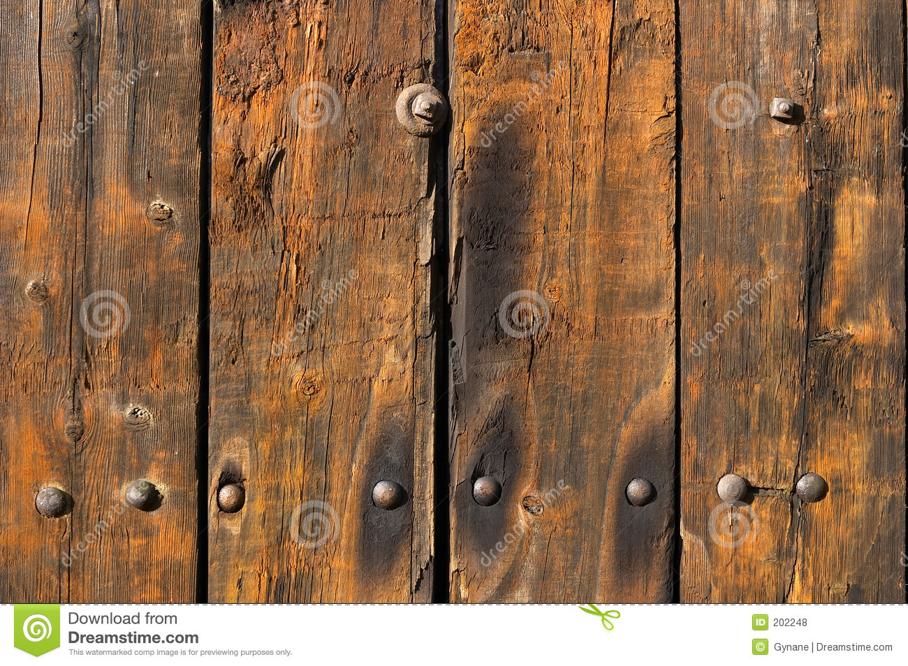 3d Landescape Mural Wallpaper Old Weathered And Worn Wooden Planks Royalty Free Stock