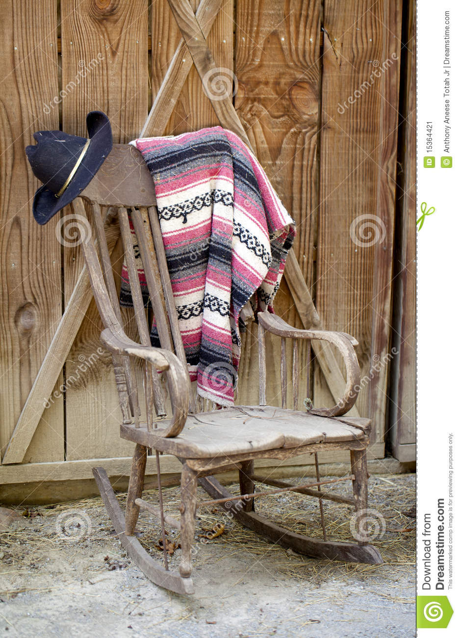Mexican Rocking Chair Old Western Still Life Stock Image Image Of Blanket 15364421