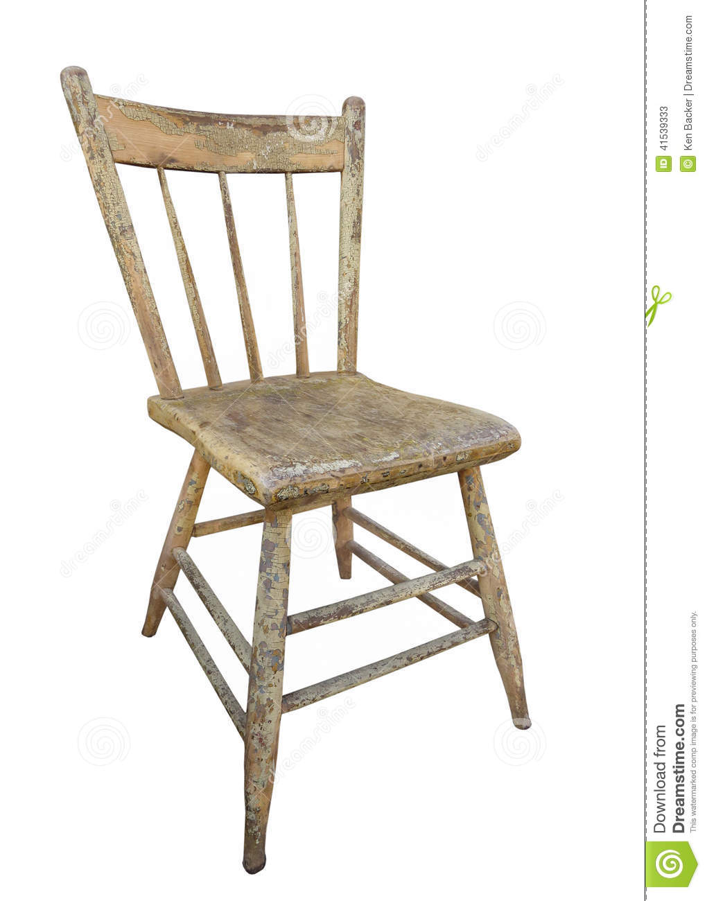 stock photo old wooden kitchen chair isolated weathered worn white image kitchen chair Old wooden kitchen chair isolated