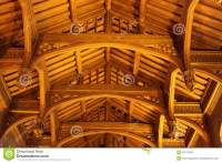 Old Wooden Vaulted Ceiling Stock Photo - Image: 53117565