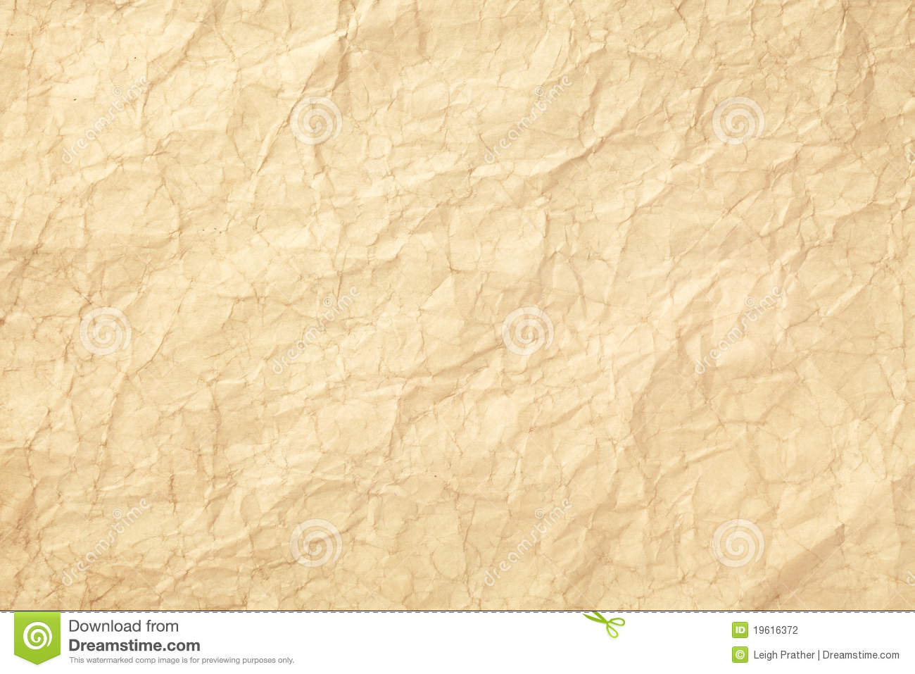 Old Wrinkled Paper Stock Photo Image Of Texture Wrinkle