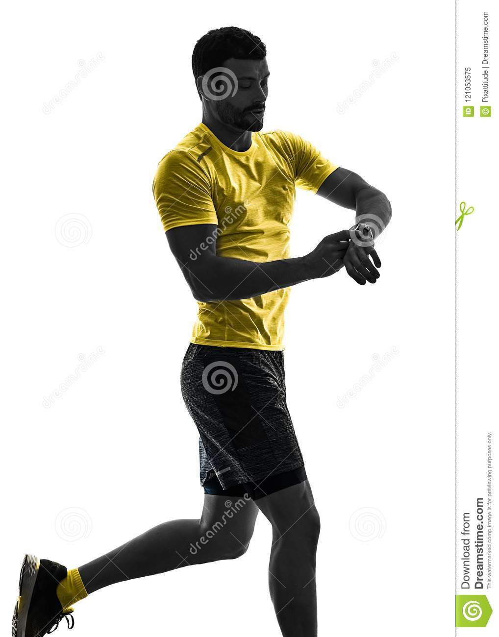 Jogging Run Time Man Runner Running Jogger Jogging Time Isolated Silhouette