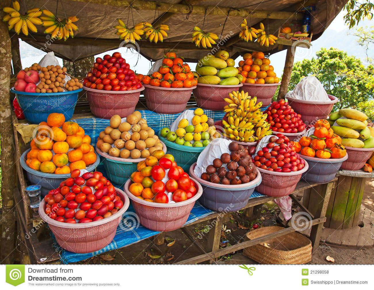 Stock Markets Open Time Open Air Fruit Market Royalty Free Stock Photos Image