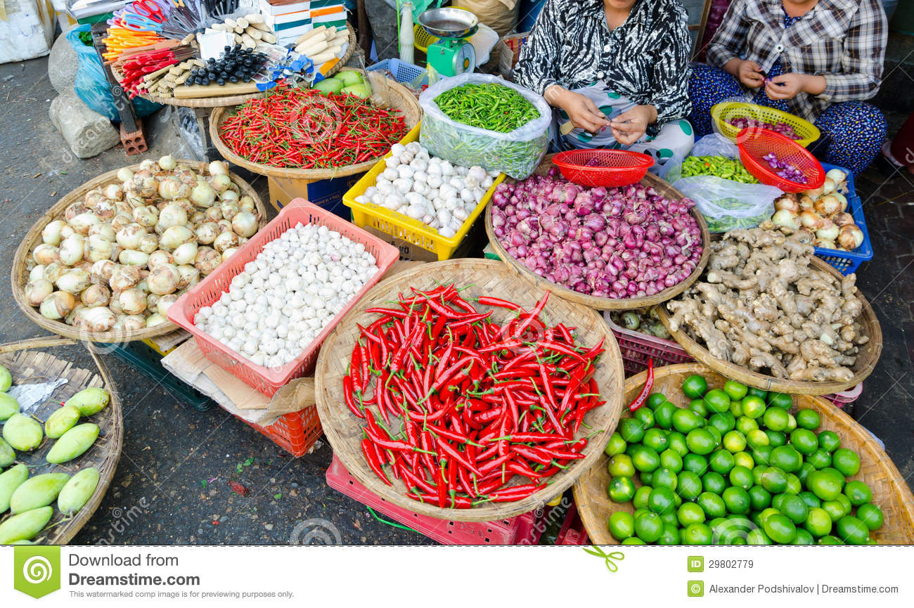 Stock Markets Open Time Food Market In Vietnam Royalty Free Stock Images Image