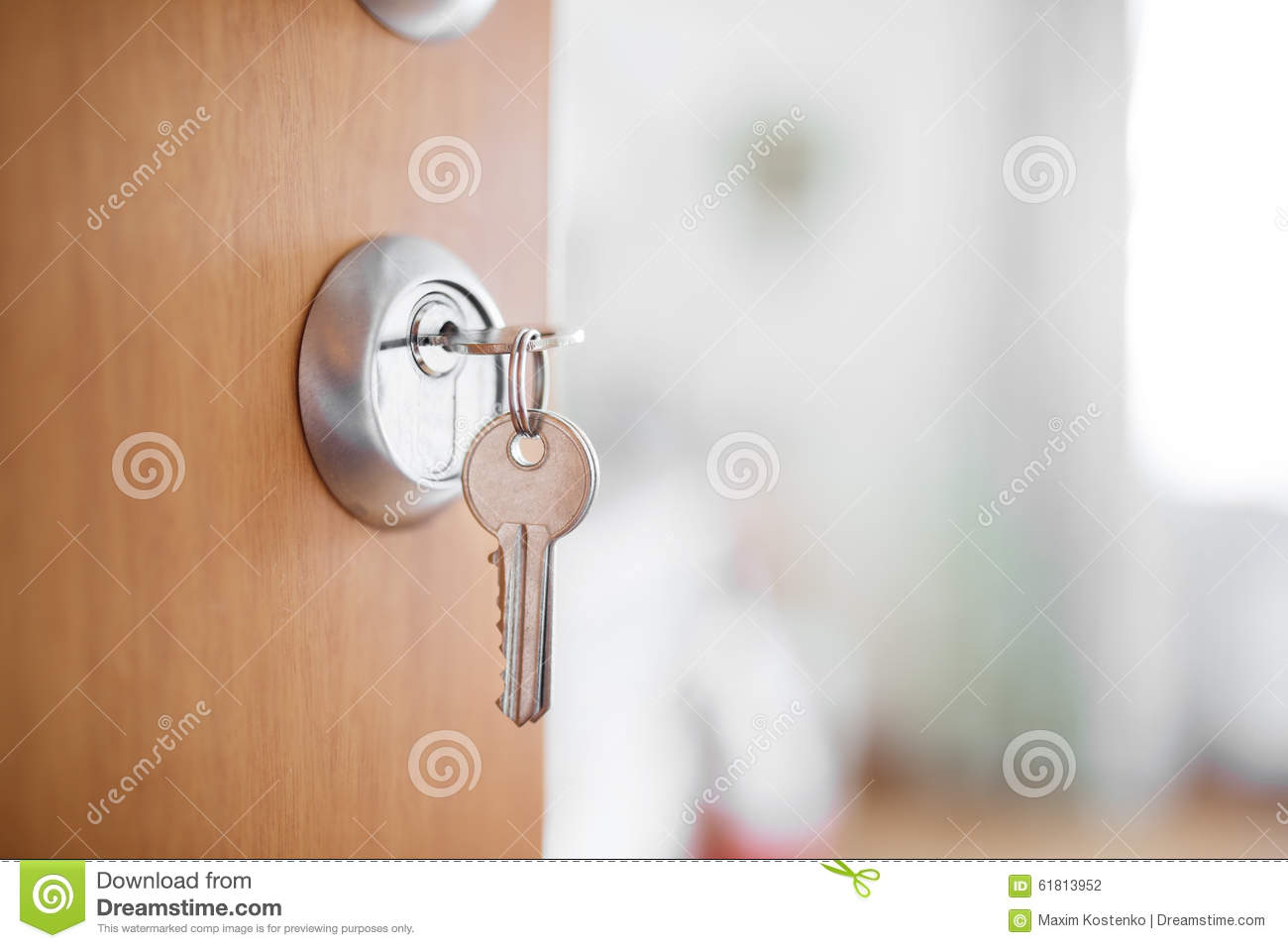 Bedroom Door Emergency Key Open Door With Keys Key In Keyhole Stock Photo Image