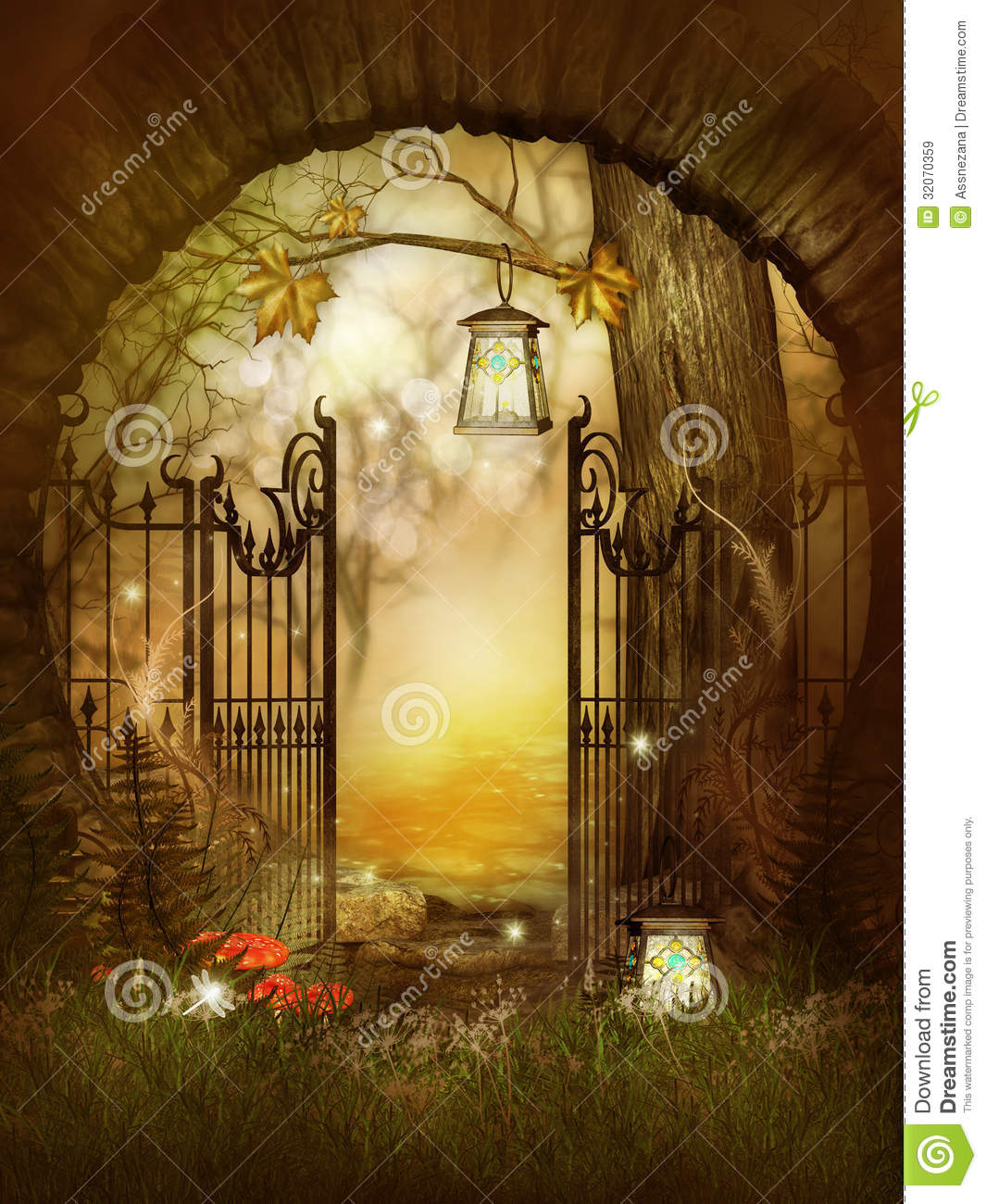 3d Animation Desktop Wallpapers Free Download Open Gates In The Fairytale Wood Royalty Free Stock Images