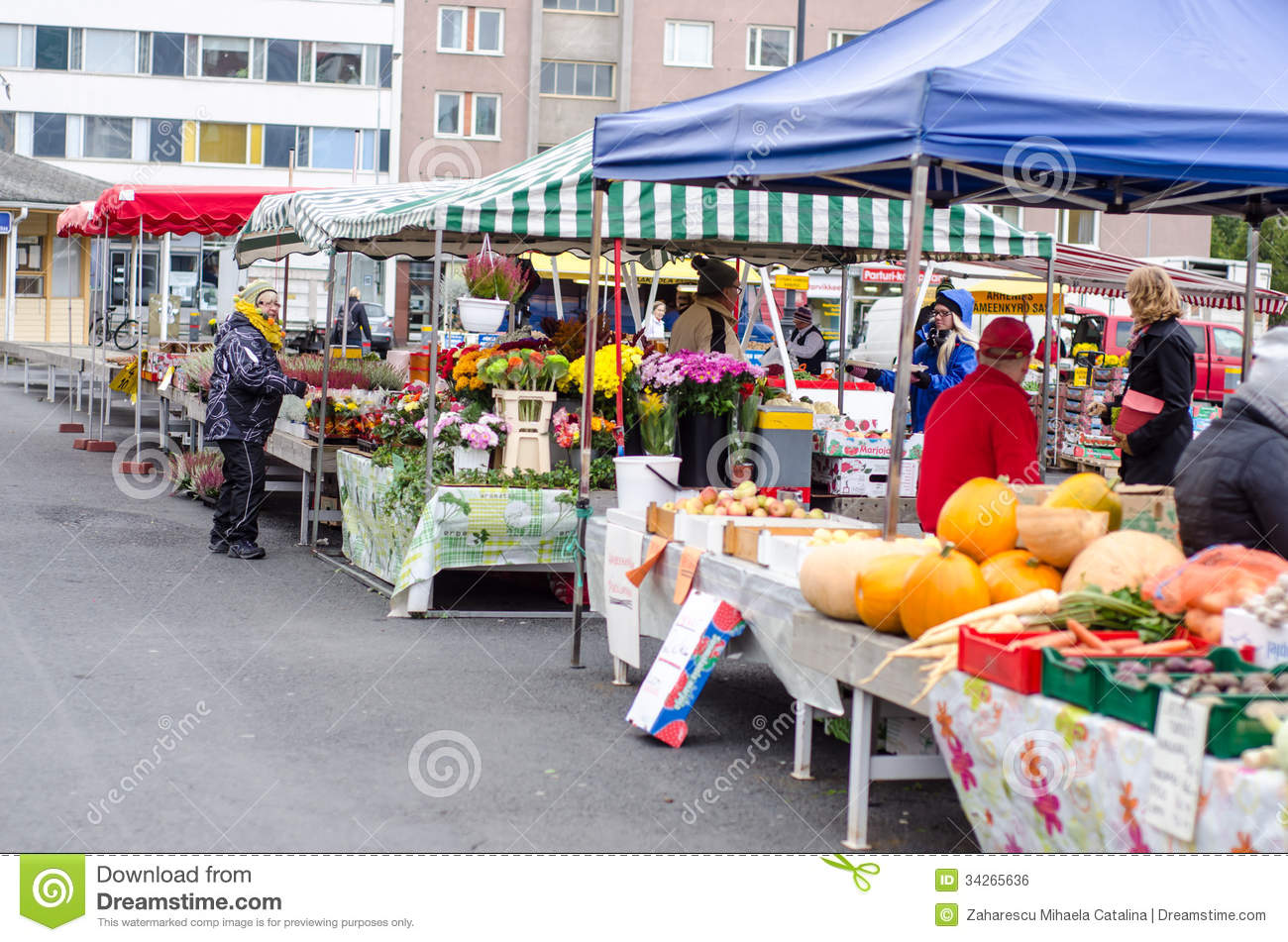 Stock Markets Open Time Open Market In Tampere Finland Editorial Photo Image Of