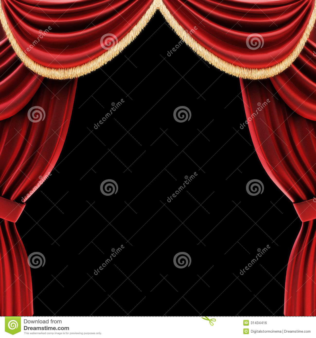 Royalty free stock photo black curtains drapes open stage theater