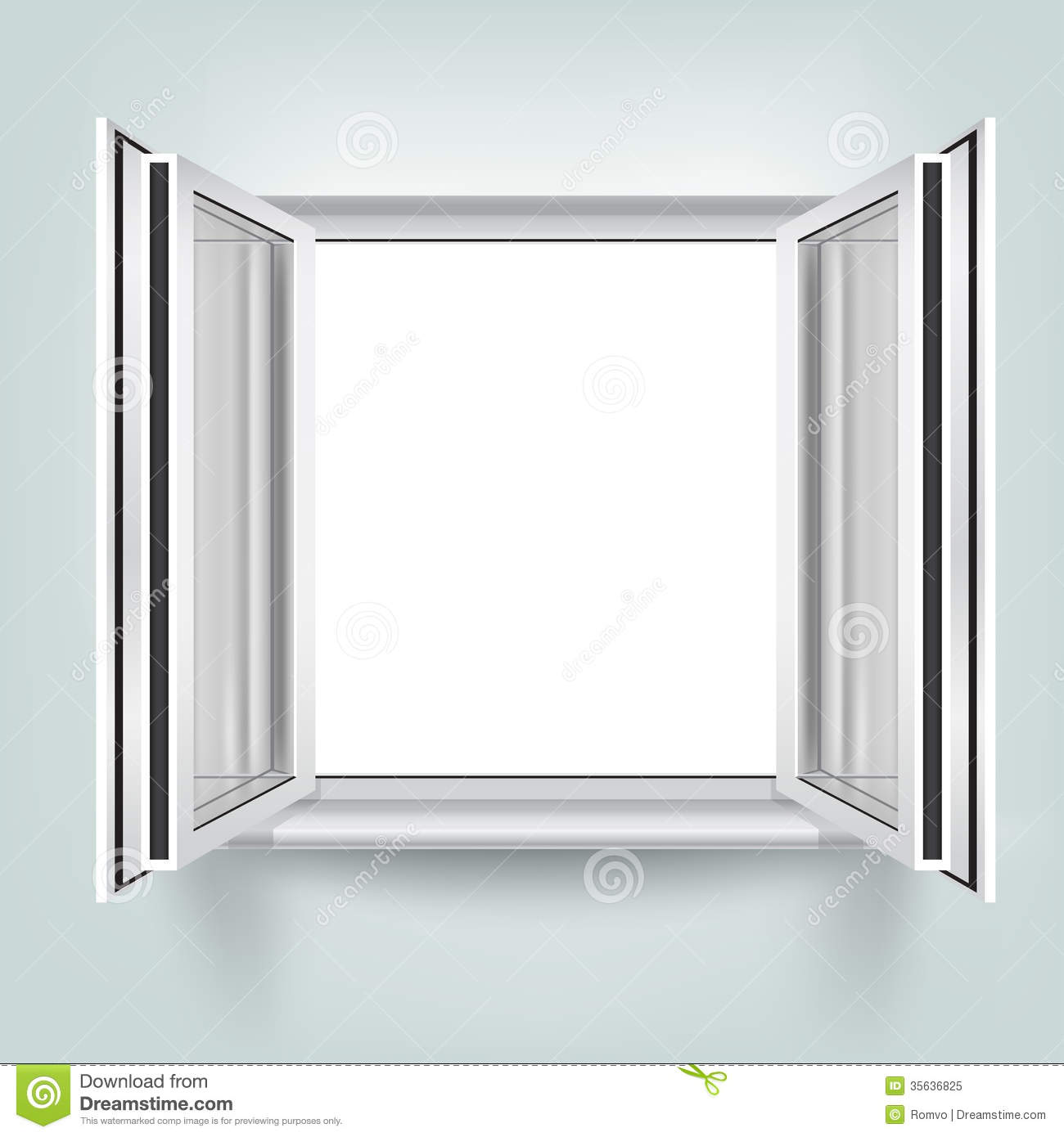 Open Glass Wall Open Window Royalty Free Stock Photo Image 35636825