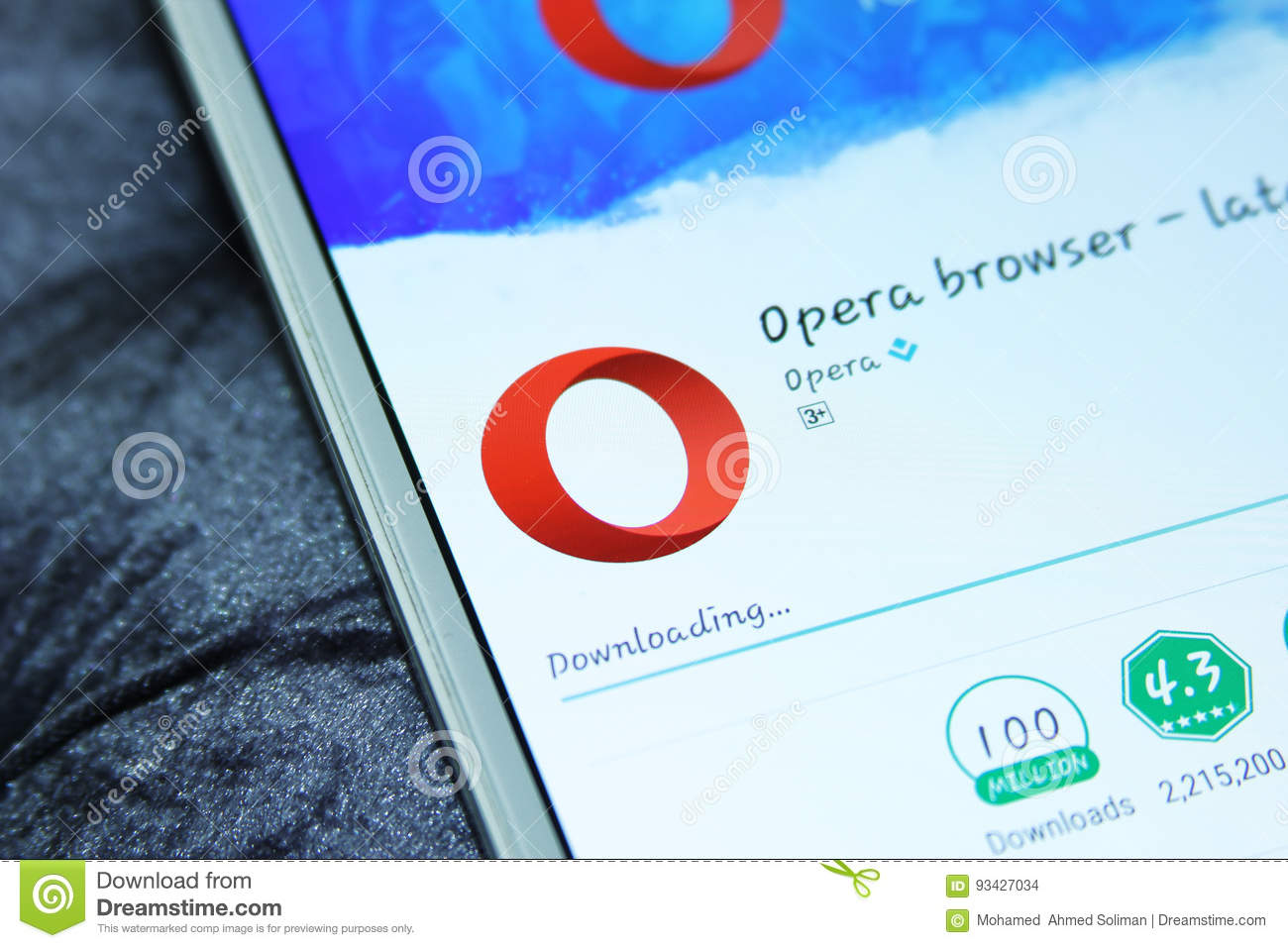 Browser Opera Opera Web Browser Mobile App Editorial Stock Image Image Of