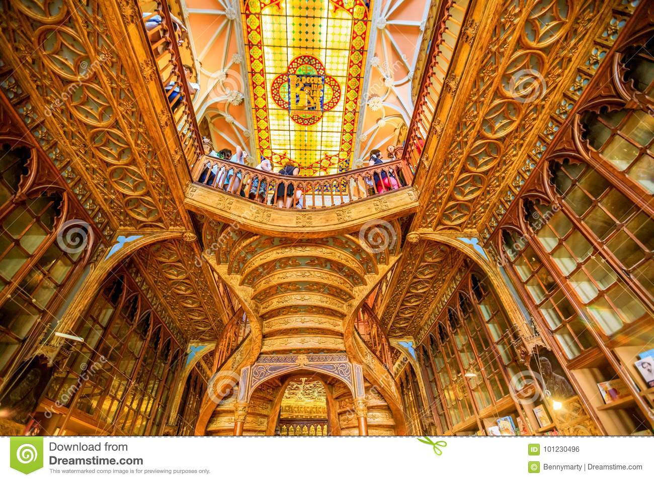 Librería Lello E Irmao Library Lello Ceiling Editorial Photo Image Of Library