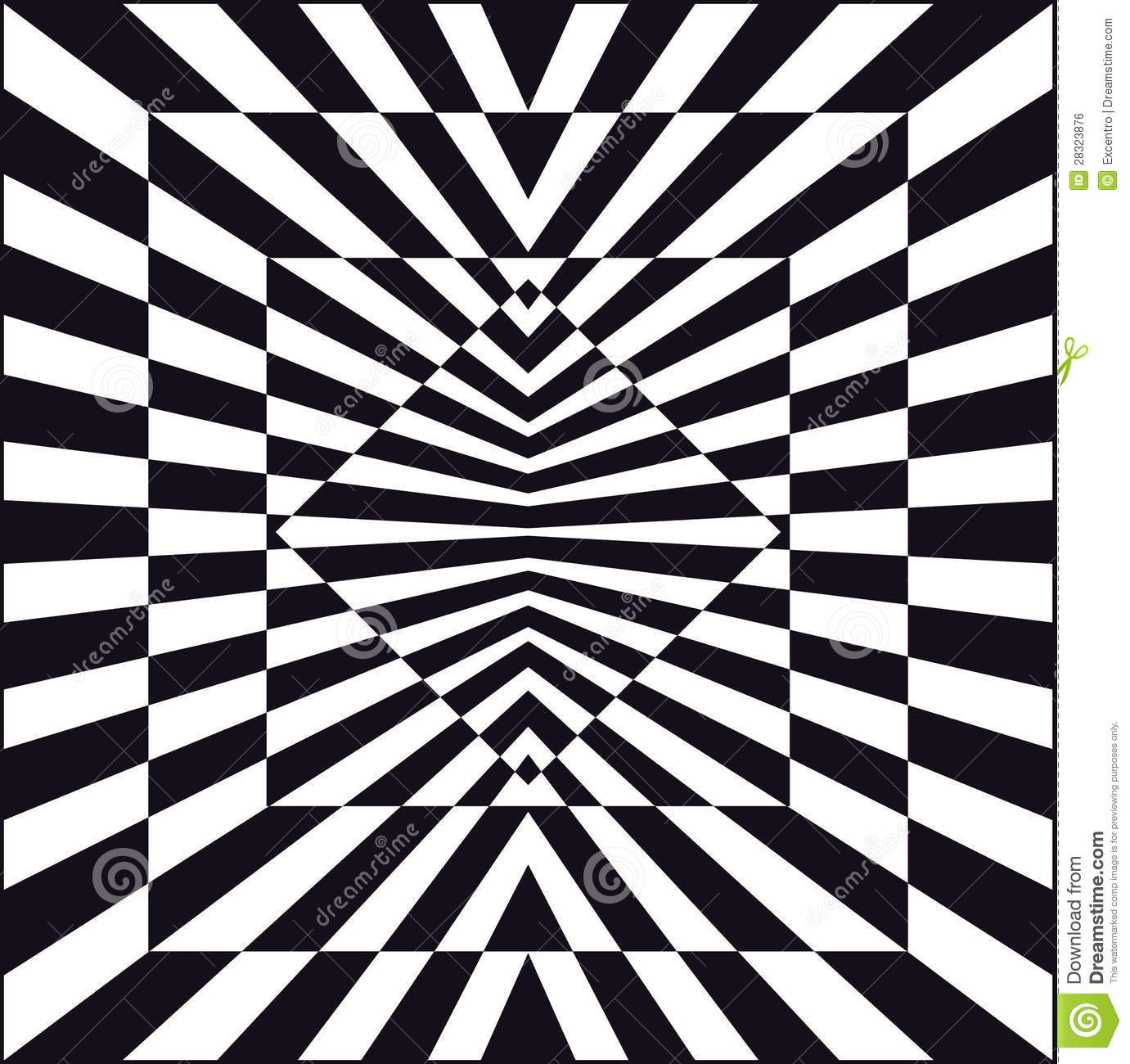 Black And White Geometric Wallpaper Optical Art Stock Vector Image Of Flag Llusion Graphic