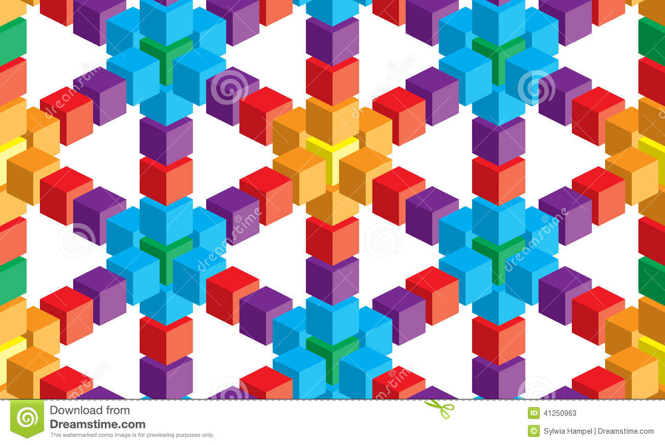 Matrix 3d Wallpaper Free Download Optical Illusion Colorful Abstract Vector Cube And