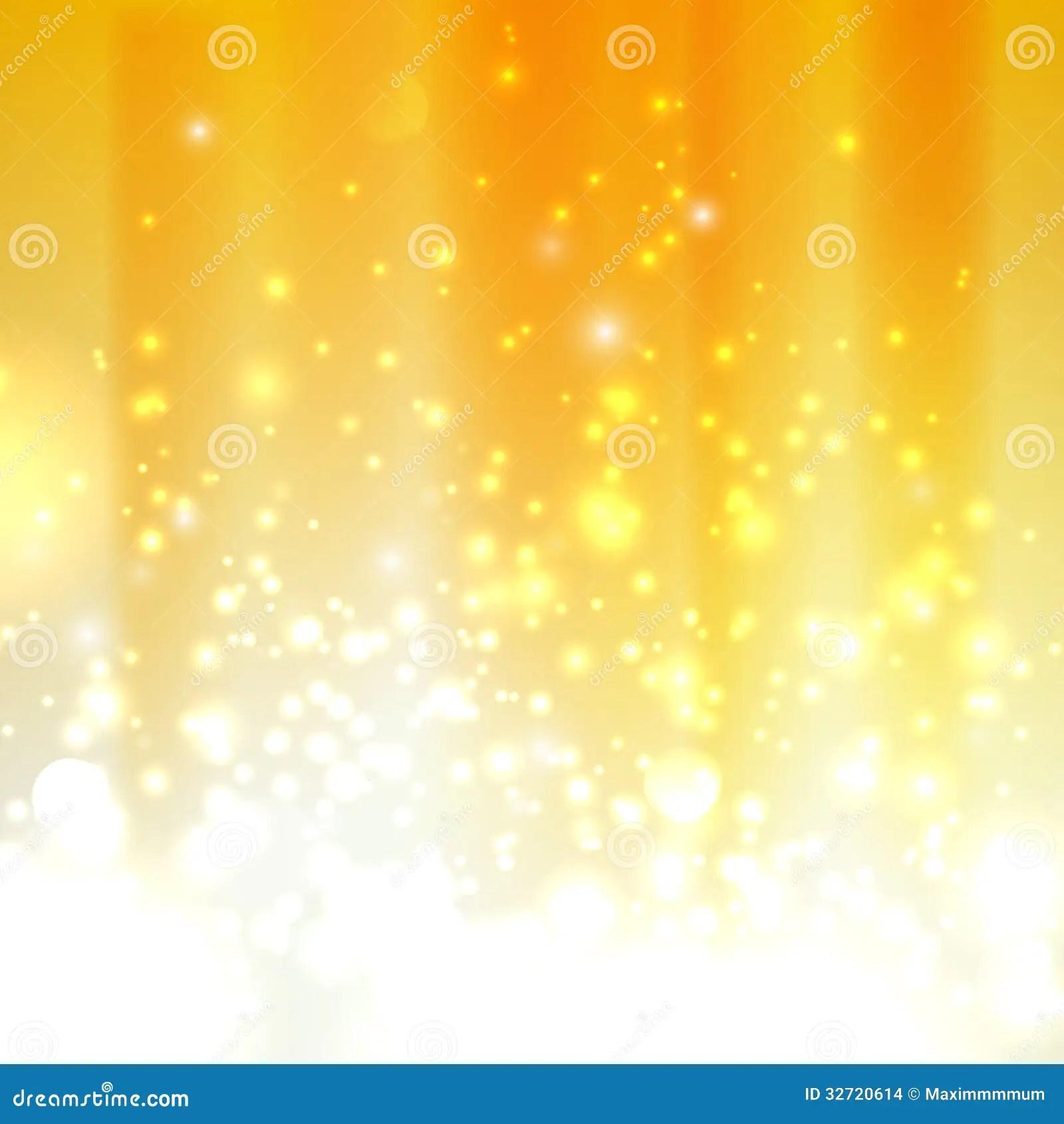 Light Effect Hd Wallpaper Orange Background With Sparkles Stock Illustration Image