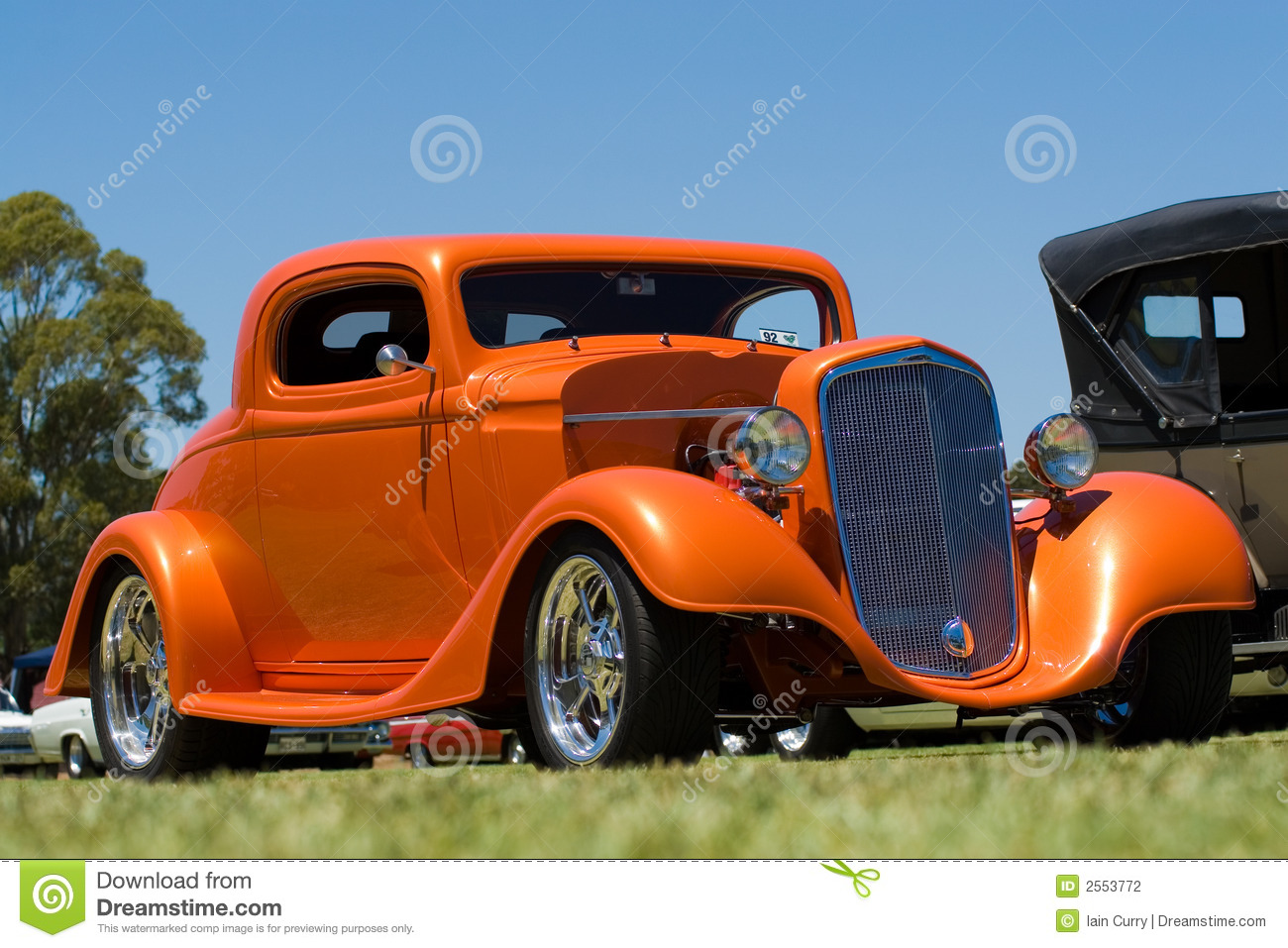Audio Car Wallpaper Download Orange Hot Rod Car Stock Photography Image 2553772