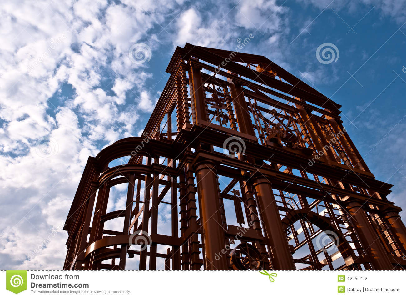 Poort Frame Orange Metal Church Frame Stock Photo Image Of Architecture