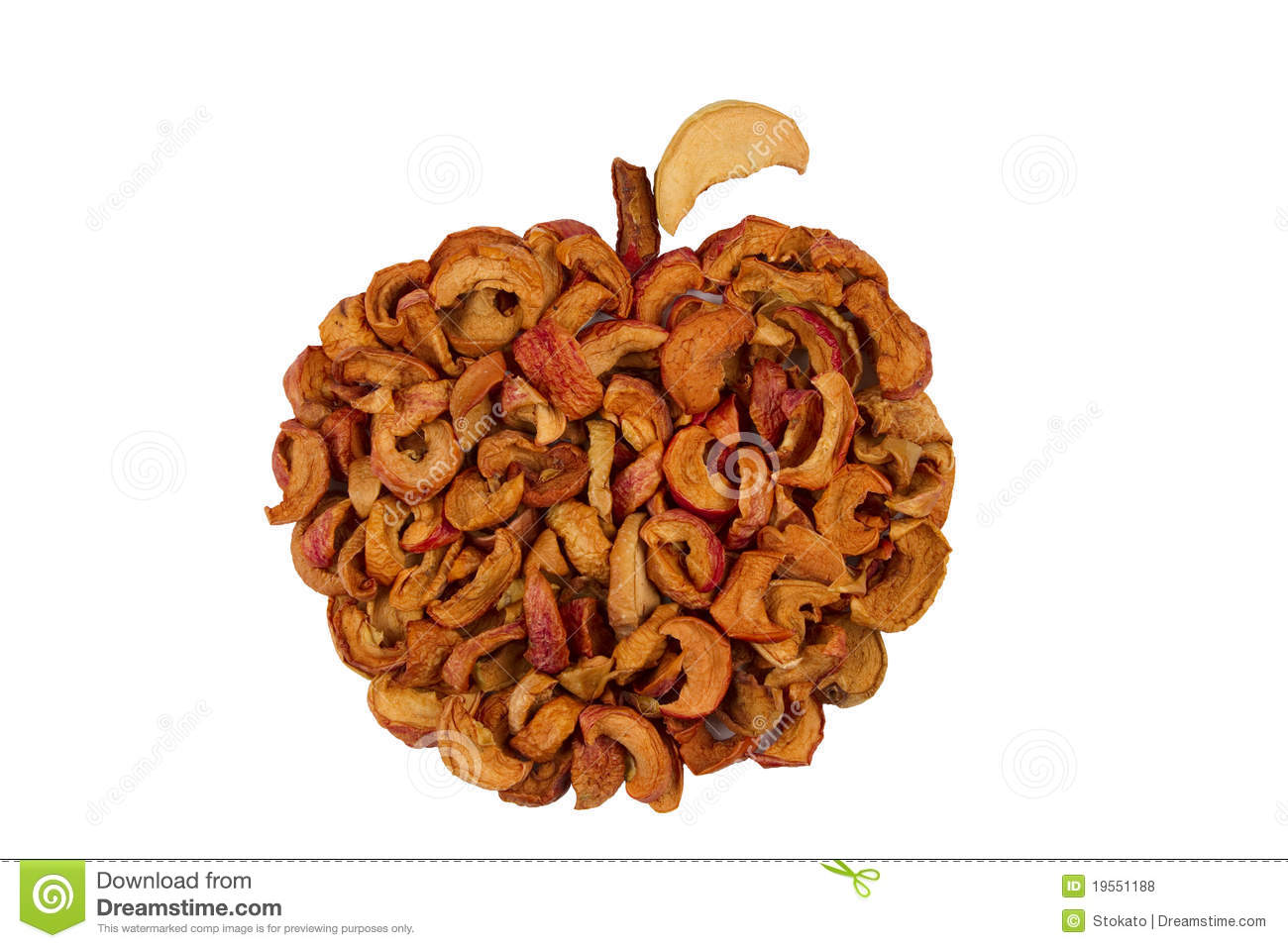 Gedroogde Appels Organic Dried Apples Royalty Free Stock Photos Image