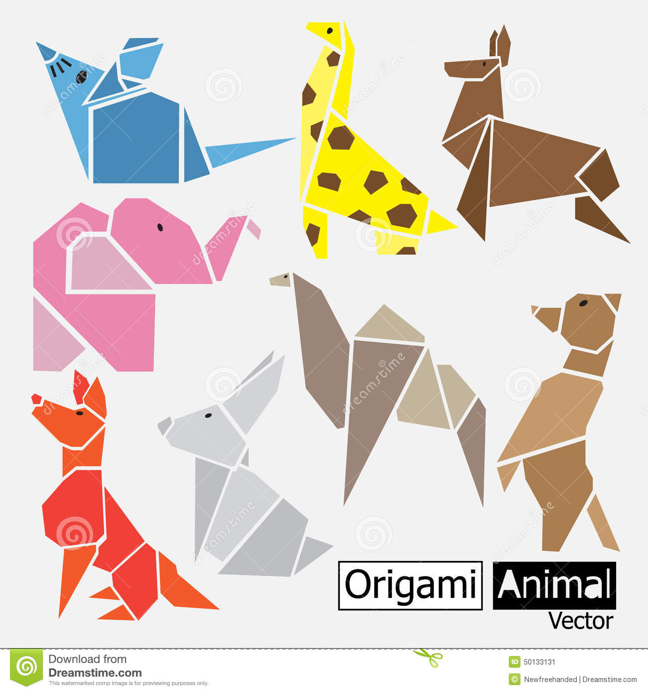Animal Design Origami Animal Design Stock Vector Illustration Of Image 50133131