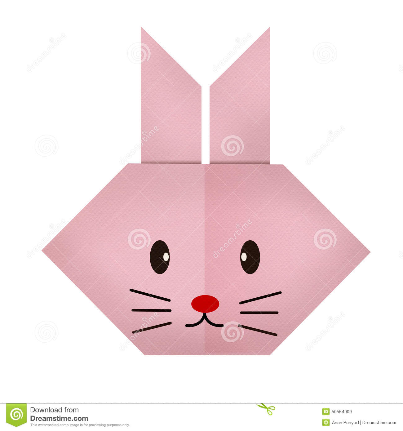 Colorful Animal Print Wallpaper Origami Paper A Rabbit Face Stock Photo Image 50554909