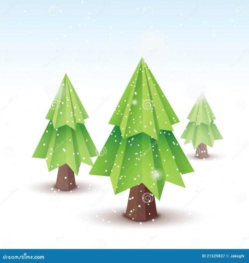 Christmas Tree Vector Origami Christmas Tree Card