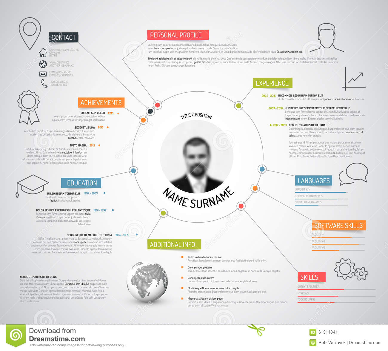 Colorful Resume Templates Best Images About Resumes Infographic