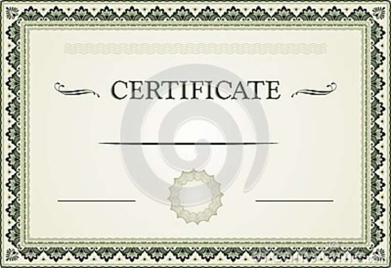 Ornamental Certificate Border And Template Stock Vector - certificate border template