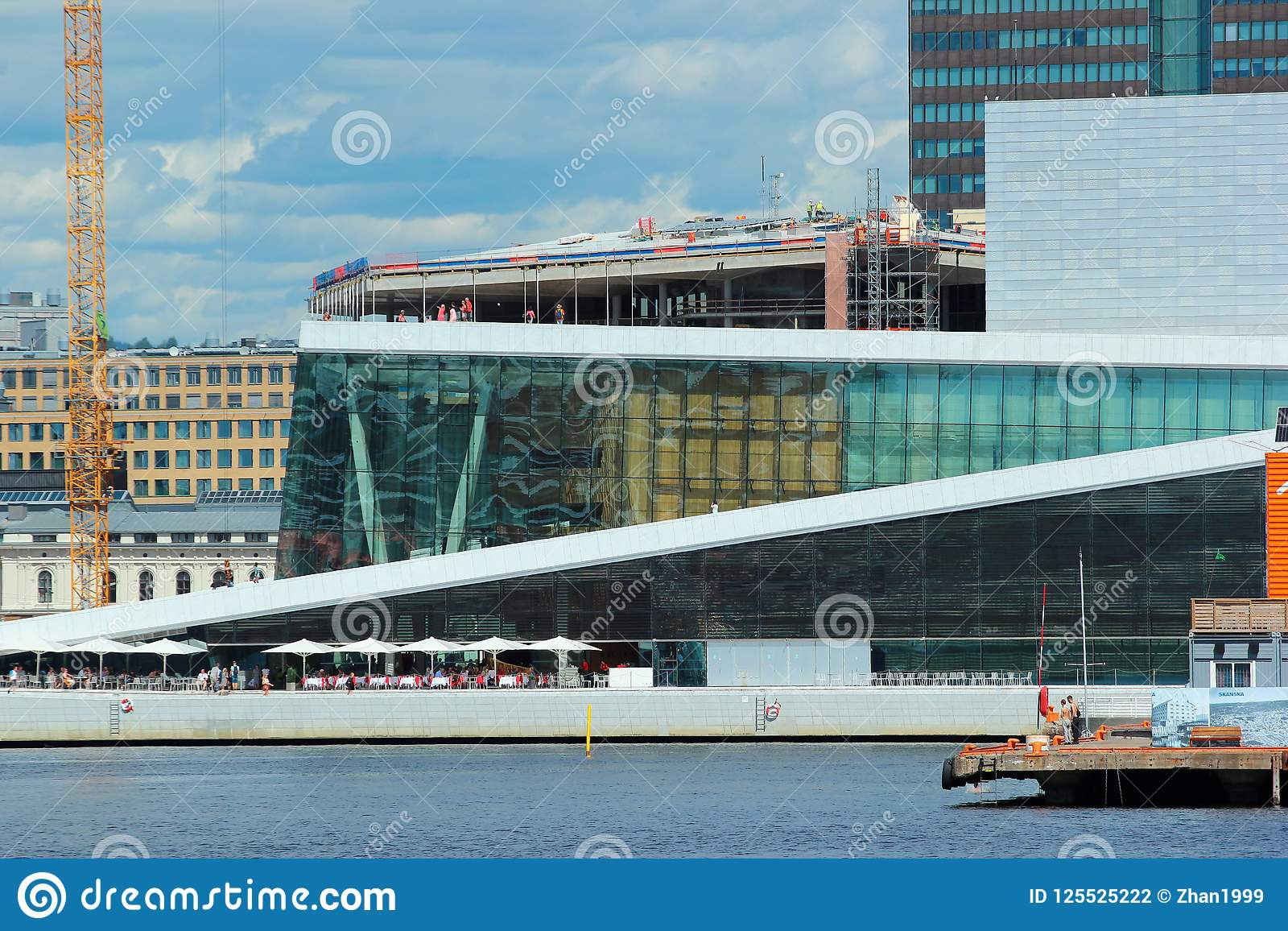Norwegian Oslo Oslo Opera House At The Waterfront Of Oslo Norway Editorial