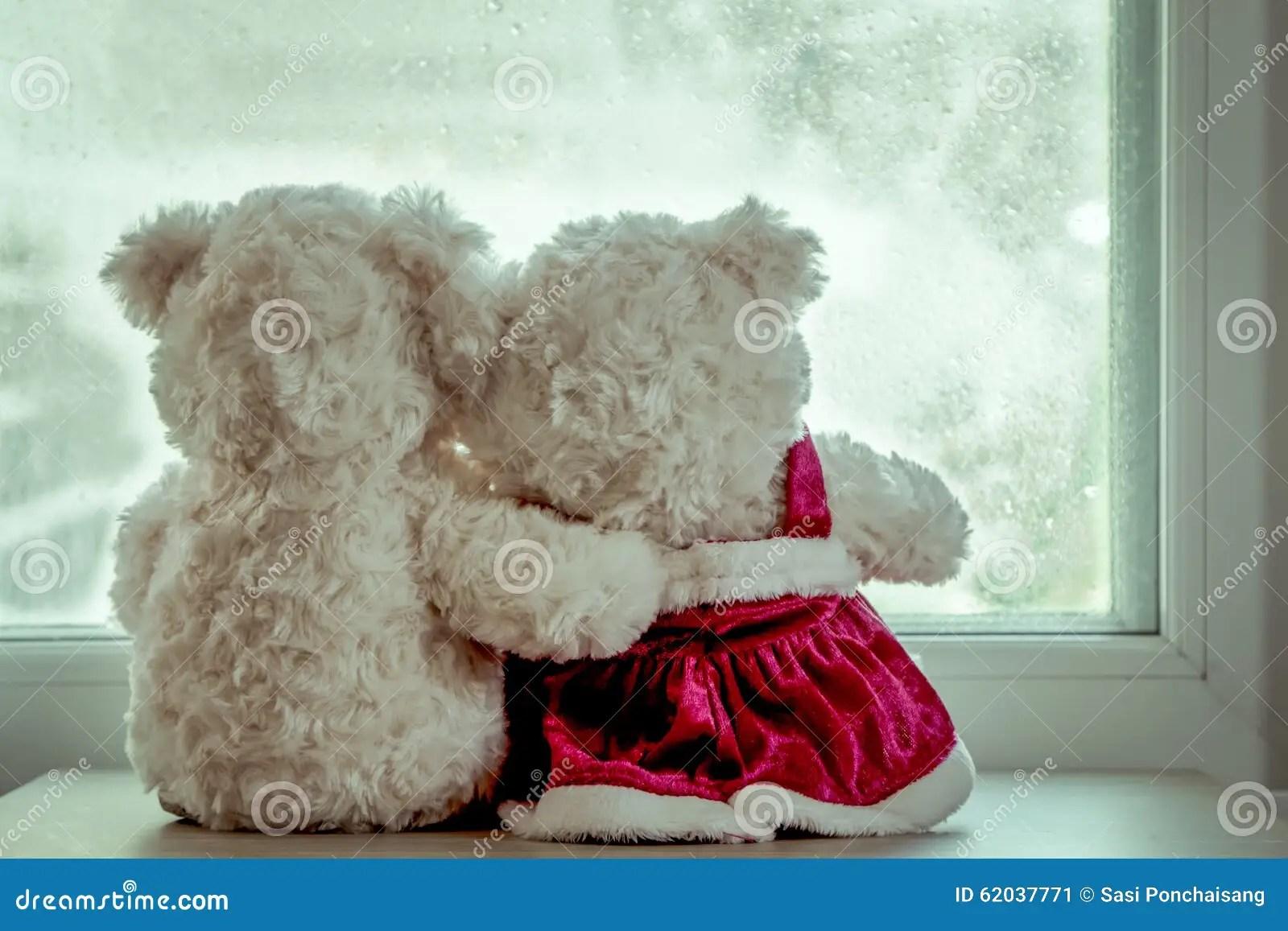 Cute Couple Hugging Wallpaper Osos De Peluche De Los Pares En El Abrazo Del Amor Imagen