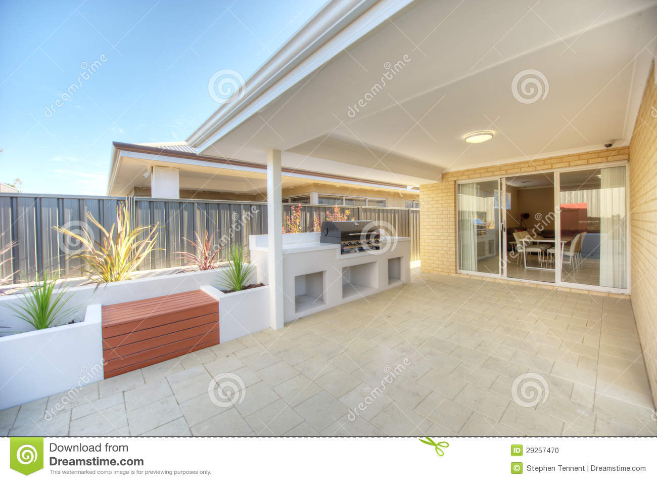 Entertaining Room Outdoor Alfresco Entertaining Room Stock Photo Image
