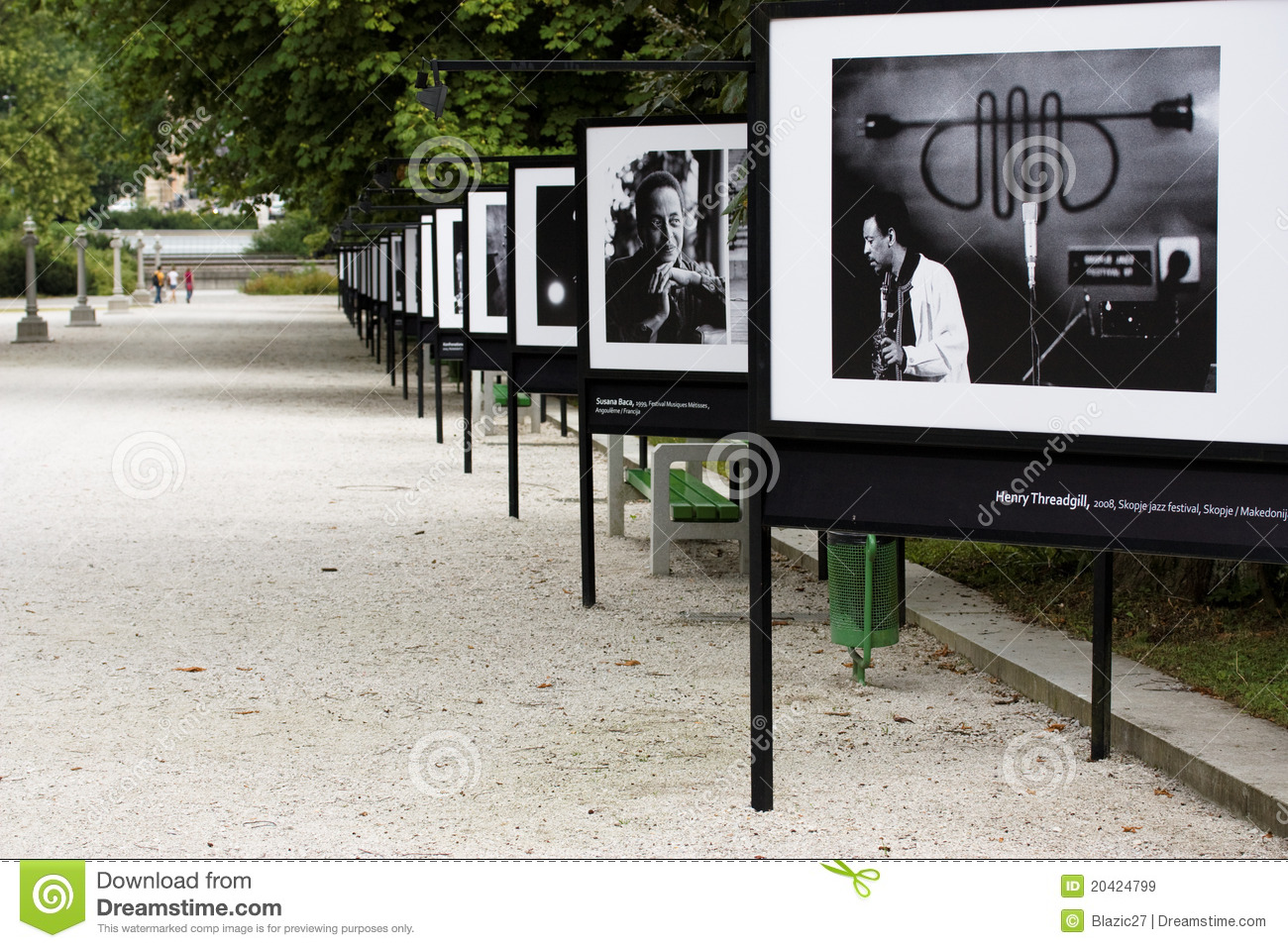 Photography Exhibition Outdoor Photography Exhibition Editorial Stock Image