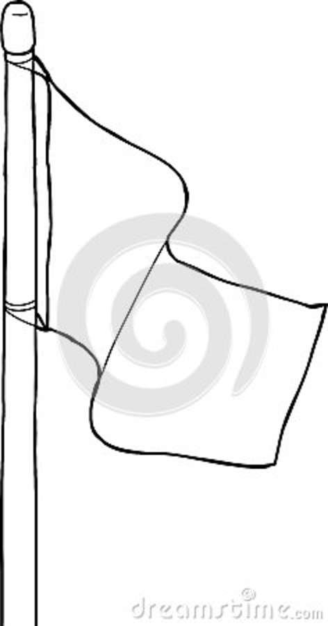 Outline of Flagpole stock illustration Illustration of space - 49262783