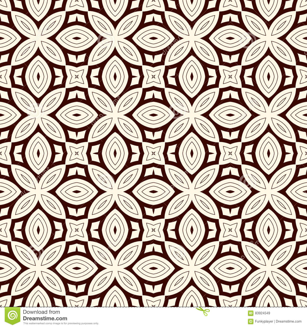 Motif Wallpaper Abstrak Outline Seamless Pattern With Floral Motif Ornamental Abstract