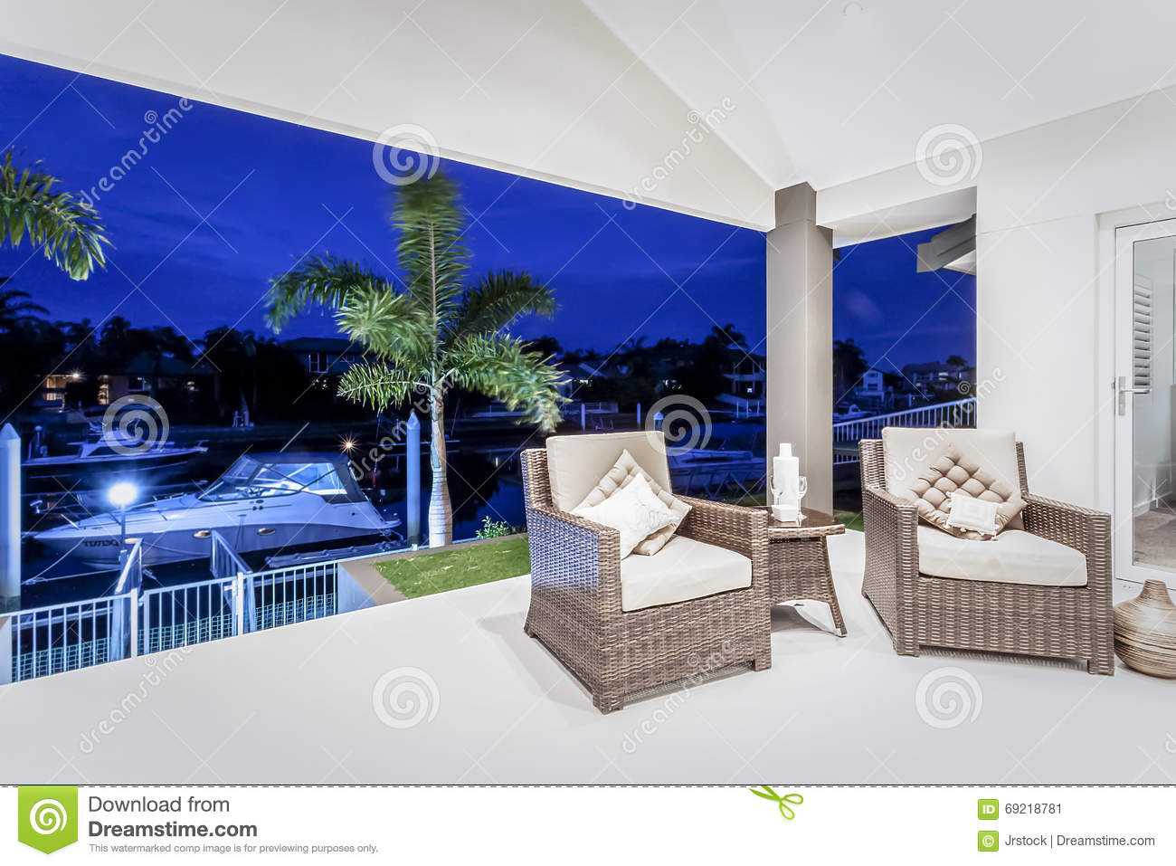 Patio Moderne Outside Patio Area Of A Modern House Or Hotel Stock Image Image
