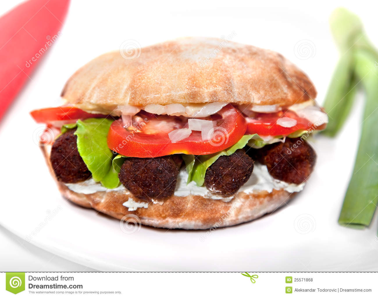 Couchtisch Sandeiche Oval Oval Vegan Sandwich With Soya Barbecue Cevapcici Stock