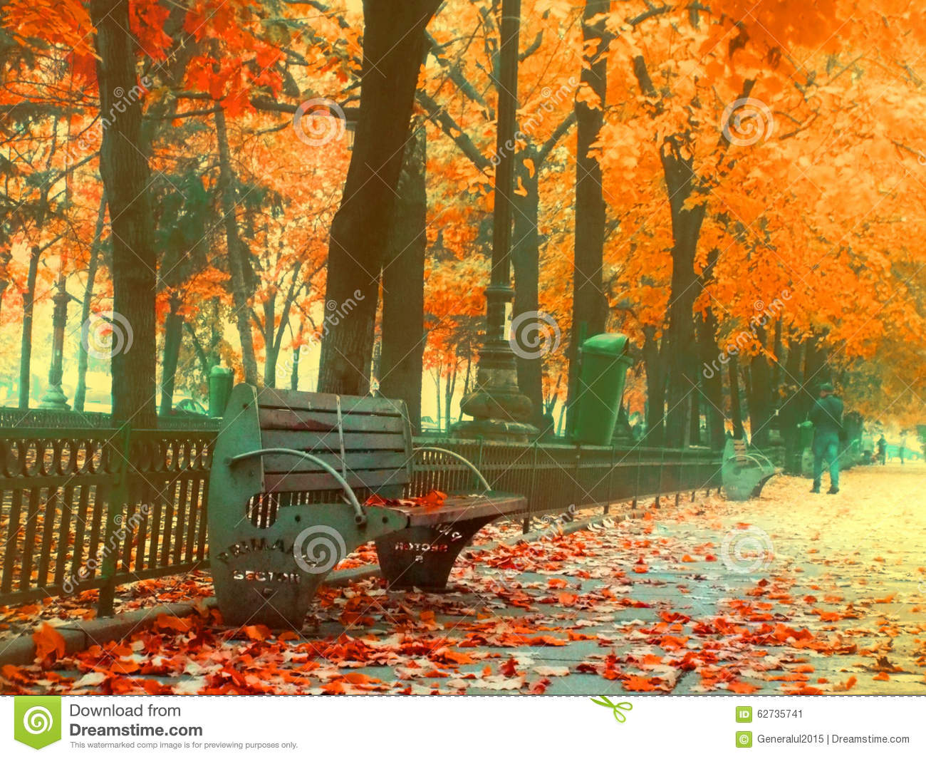 Orange Fall Wallpaper Overfiltered Urban Sofa On The Street From Bucharest In A