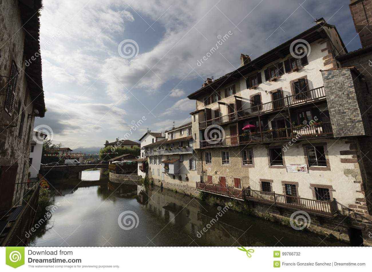 Saint Jean Pied De Port Saint Jean Pied De Port Editorial Photography Image Of Reflexes