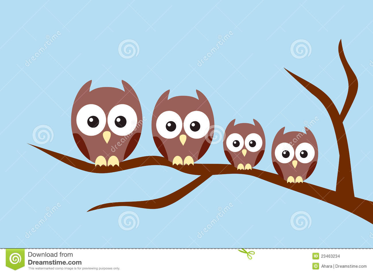 Cute Baby Couple Wallpaper For Desktop Owl Family Stock Images Image 23463234